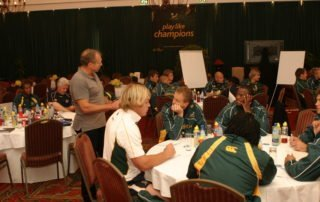 Team Building & Motivational Speaker Dr Steve Harris Motivating Springboks 2