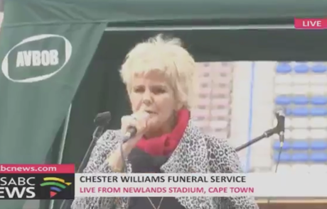 chester williams funeral service with speaker dr steve harris - pj powers