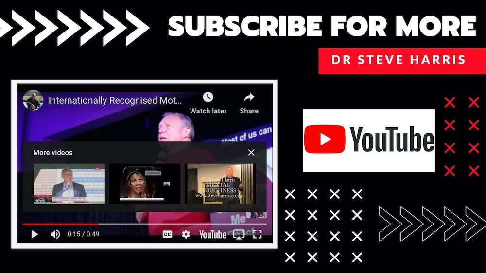 Motivational Speaker In South Africa Dr Steve Harris On YouTube Subscribe 1